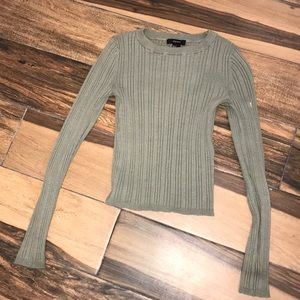 GREEN THICK CROP LONG SLEEVE